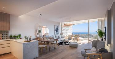 Render Riviera Living Desde Cocina 30 Ju
