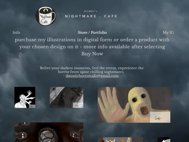 Nightmare Cafe - Art Page, NJ