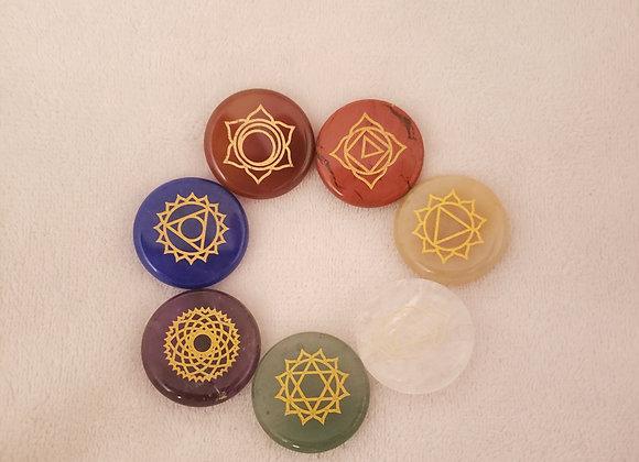 Chakra stones  Juego de 7- #1201