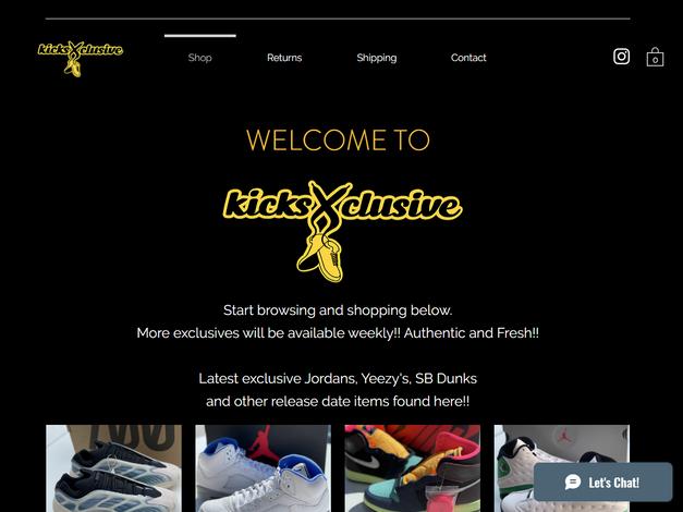 KicksXclusive - ecomerce site, NC