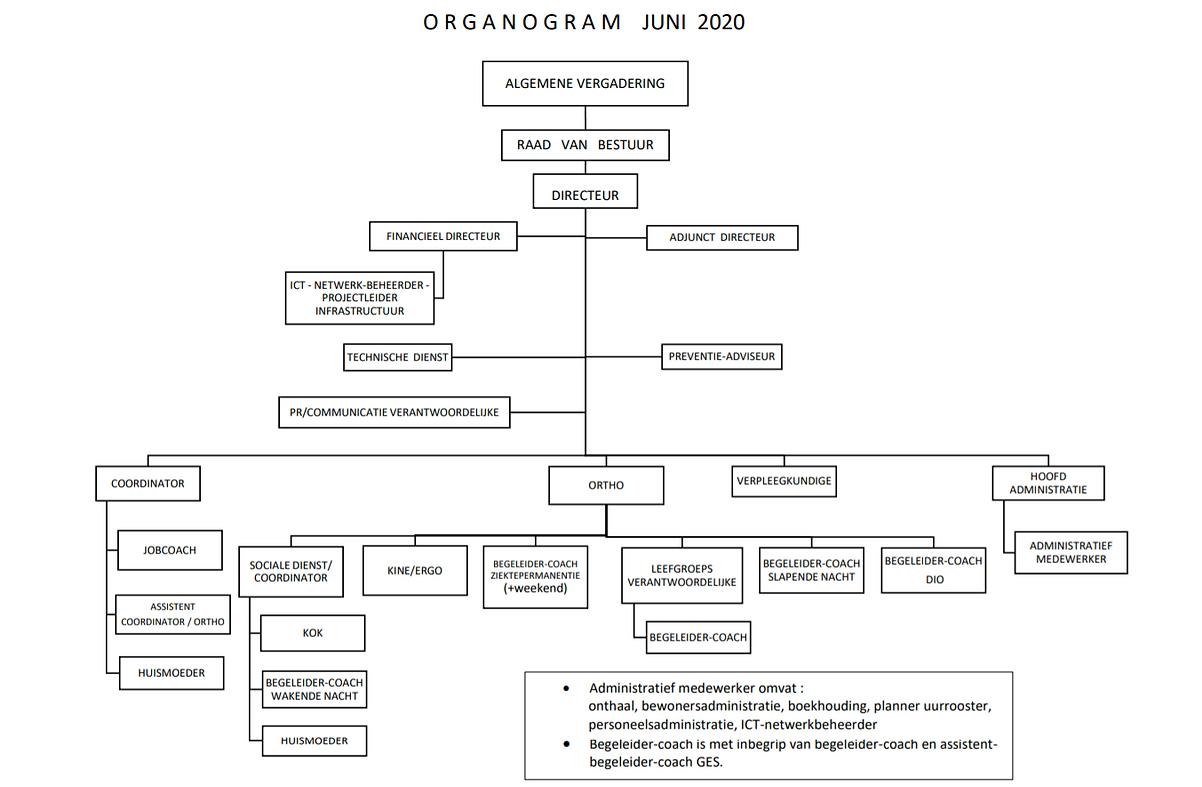 Organogram De Okkernoot versie juni 2020