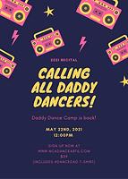 Midnight Blue Pink Boombox Dance Flyer.p