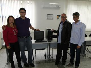 Santa Casa de Formiga recebe doação de computadores do UNIFOR
