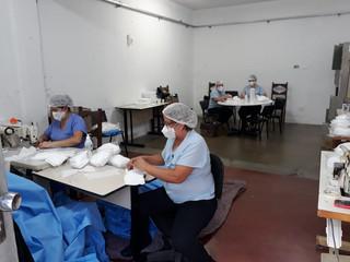 Santa Casa de Formiga cria ateliê para fabricação de máscaras