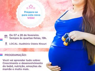 Santa Casa inicia curso Mamãe Bebê em fevereiro