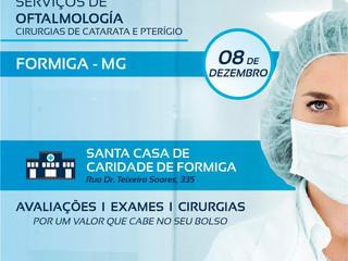 Santa Casa de Formiga realizará mutirão de serviços oftalmológicos