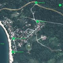 Vista aérea da praia de Toque Toque