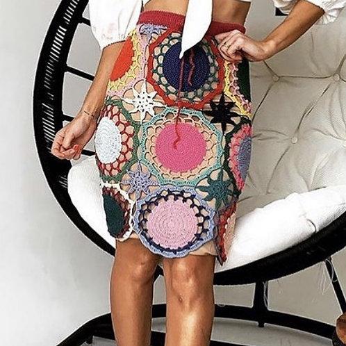 Saia de Crochê Handmade