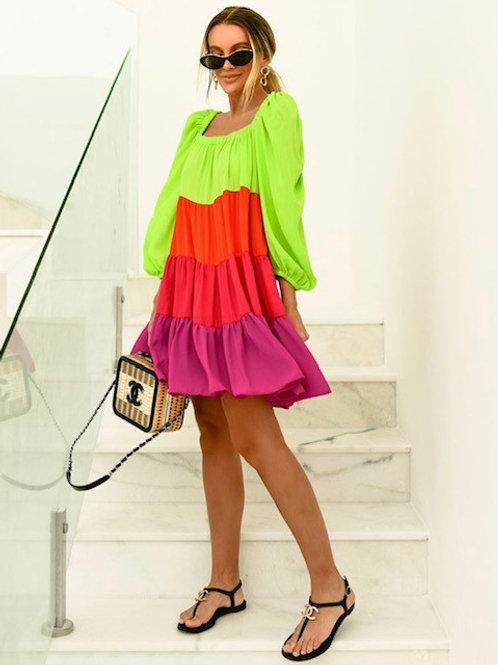 Vestido Serafina Color Block