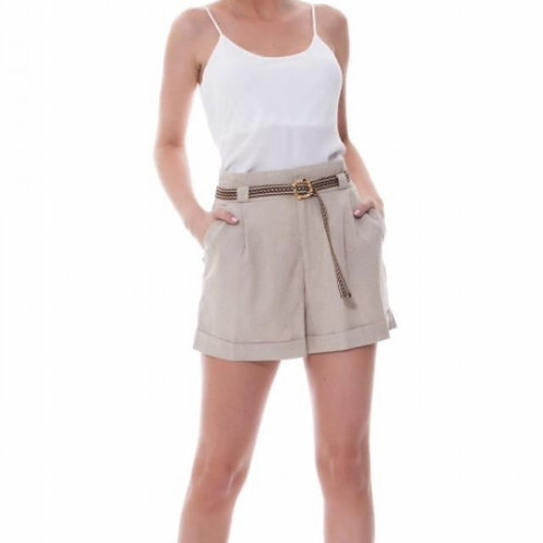 Shorts em Linho com Cinto