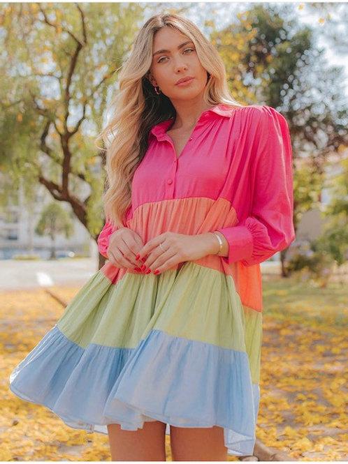 Vestido Rayon Color