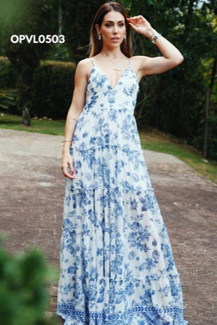 Vestido Longo Flower