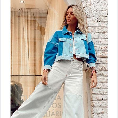 Jaqueta Jeans Patchwork