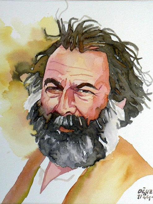 """OĞUZ TIĞLI SULU BOYA """"DATÇA'NIN D'LERİ"""" ÇALIŞMASI"""