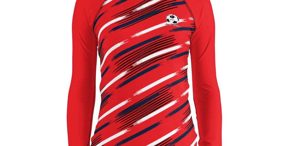 Camiseta compresión manga larga mujer Roja
