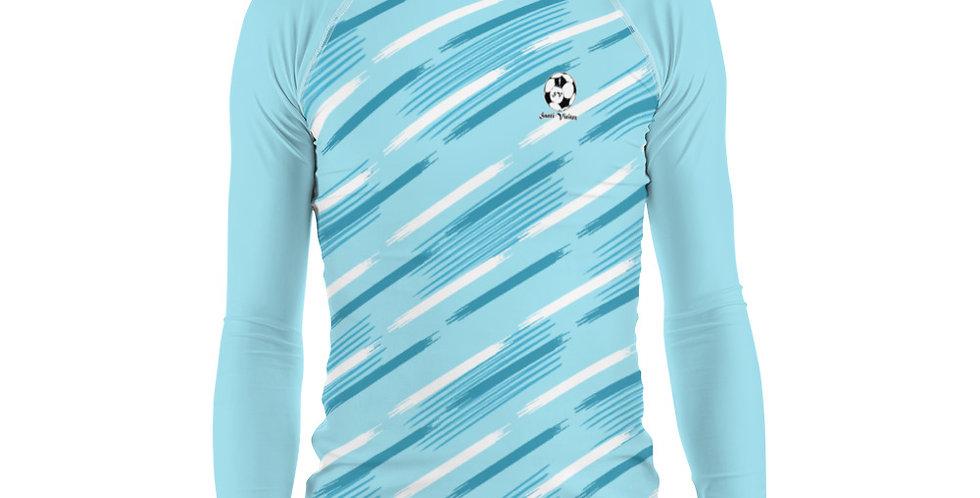 Camiseta compresión manga larga hombre Azul Celeste