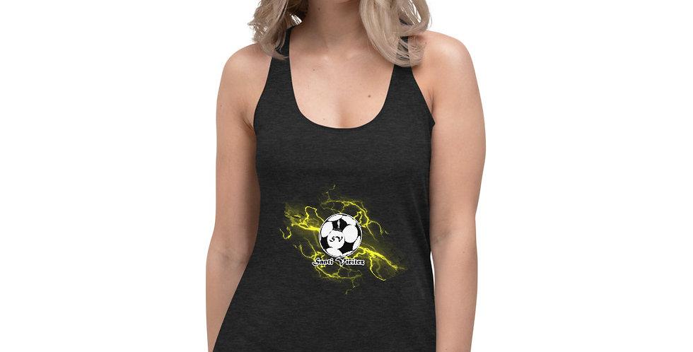 Camiseta deportiva para mujer Rayos amarillos Santi Vieitez