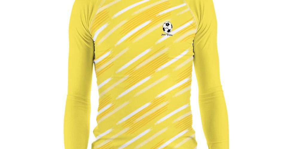 Camiseta compresión manga larga hombre Amarilla