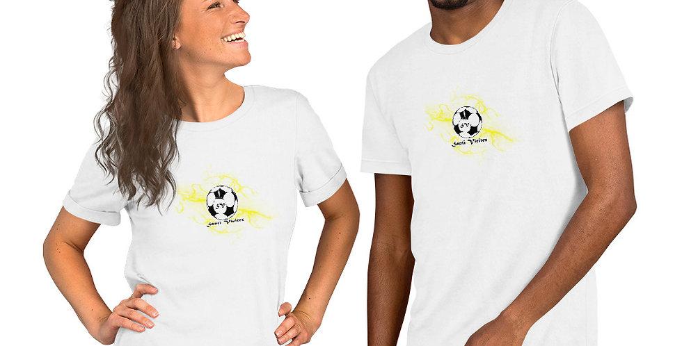 Camiseta de manga corta unisex Rayos amarillos Santi Vieitez
