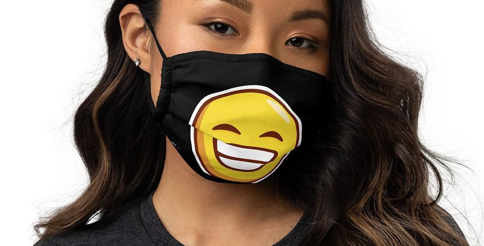 Mascarilla negra emoji sonrisa