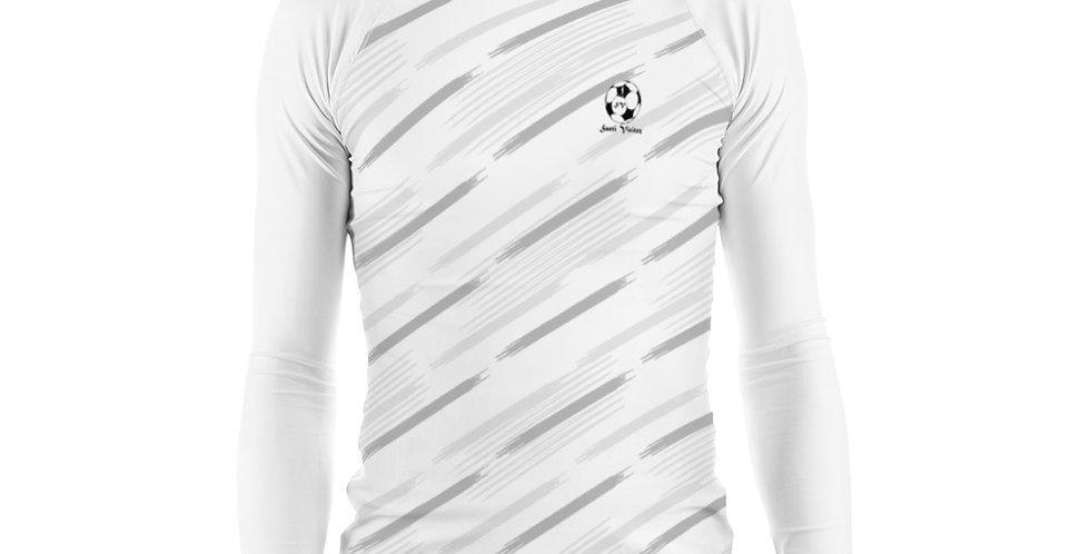 Camiseta compresión manga larga hombre Blanca