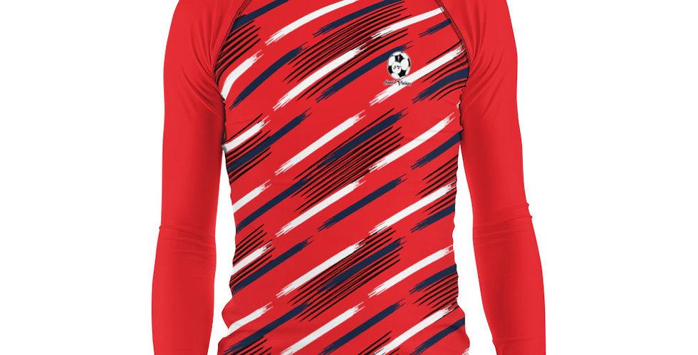 Camiseta compresión manga larga hombre Roja
