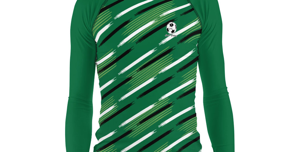 Camiseta compresión manga larga hombre Verde Oscuro