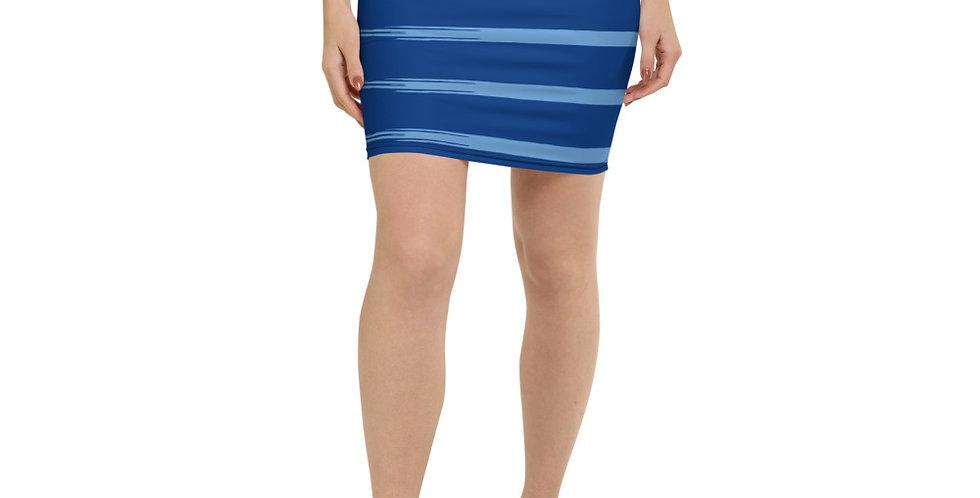 Falda de tubo Azul rayas
