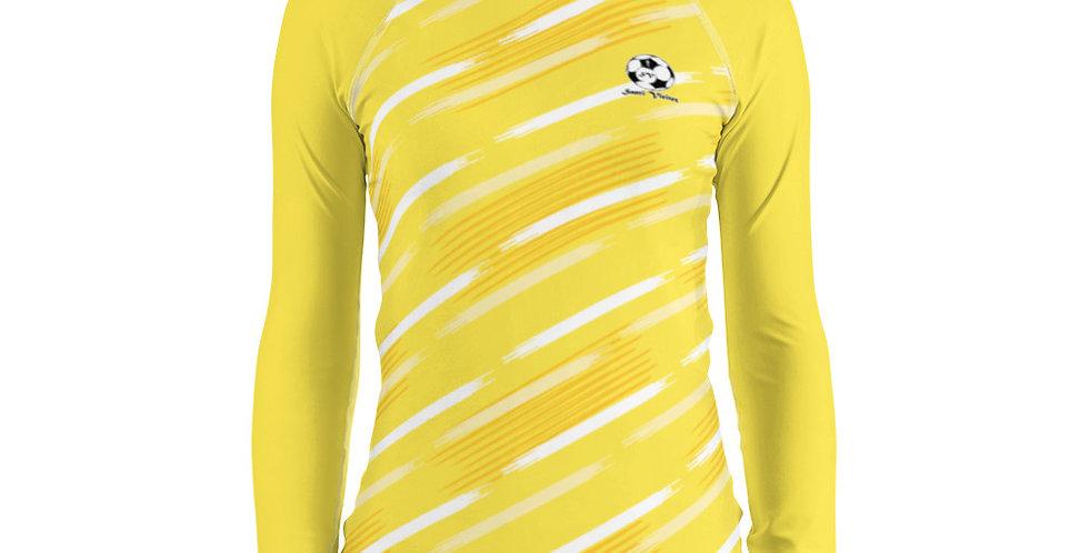 Camiseta compresión manga larga mujer Amarillo
