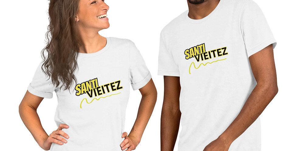 Camiseta de manga corta unisex Santi Vieitez letra