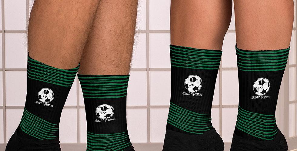 Calcetines rayas verdes Santi Vieitez