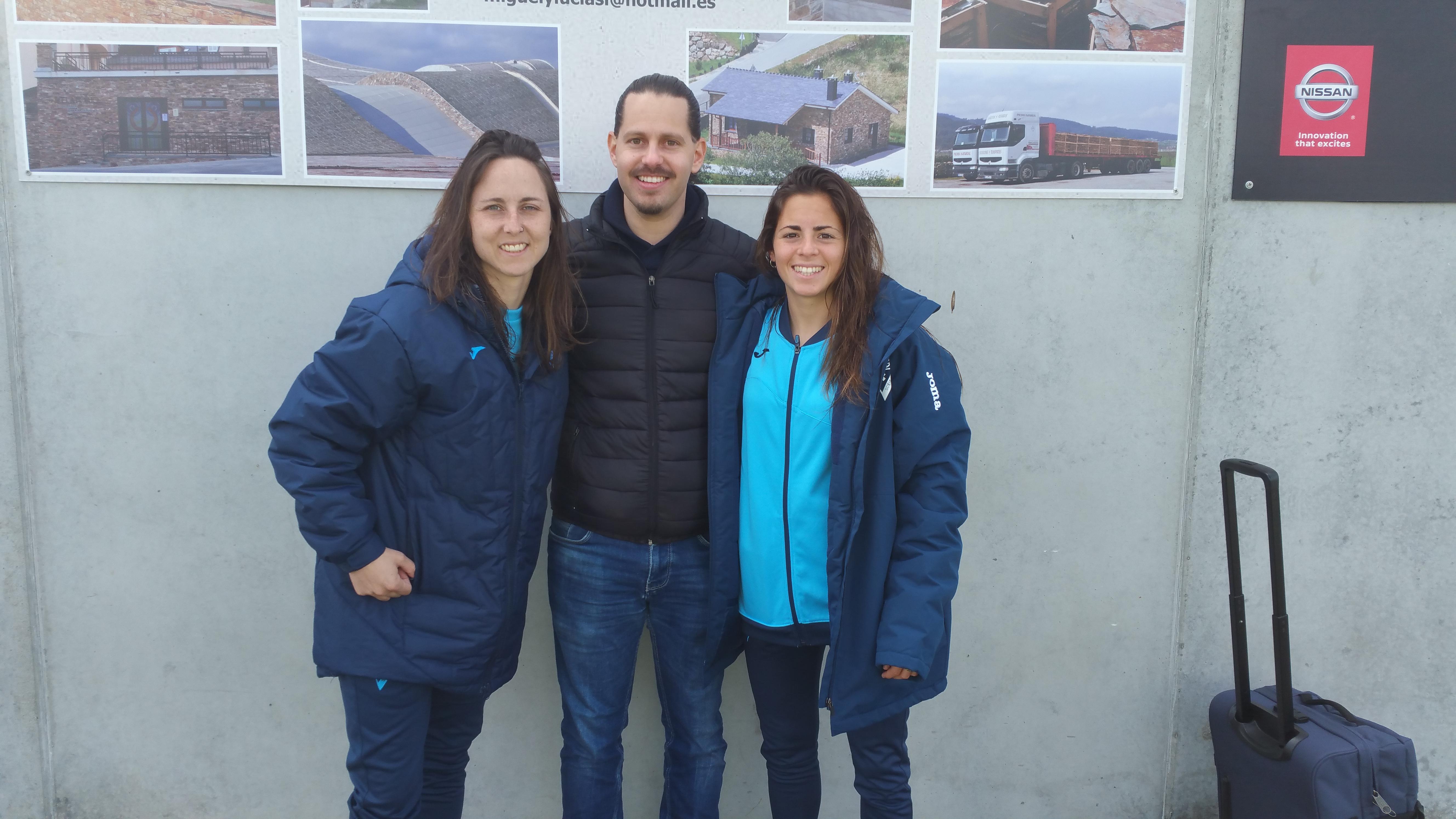 Titay Calvo, Sarita Navarro y Santi Vieitez