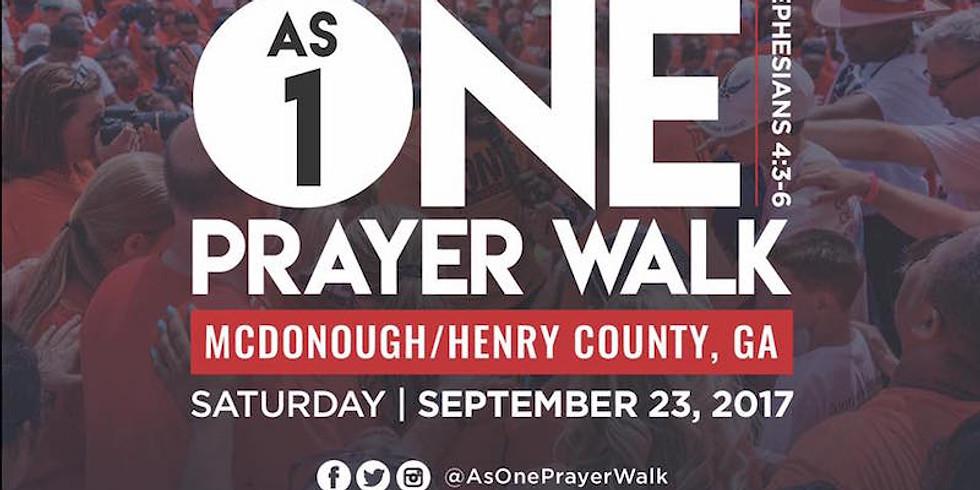 As ONE Prayer Walk