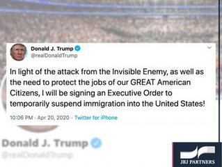 Trump deve suspender imigração nos EUA, mas a ordem executiva ainda não foi assinada.