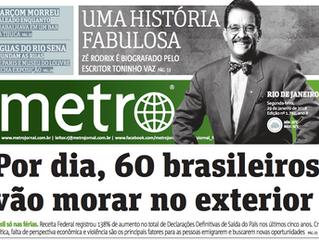 Por dia, 60 brasileiros vão morar no exterior