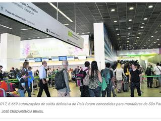 Saída de São Paulo para o exterior dispara na crise