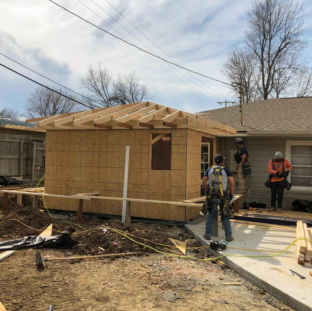 Roof construction for bathroom remodel broken arrow, ok