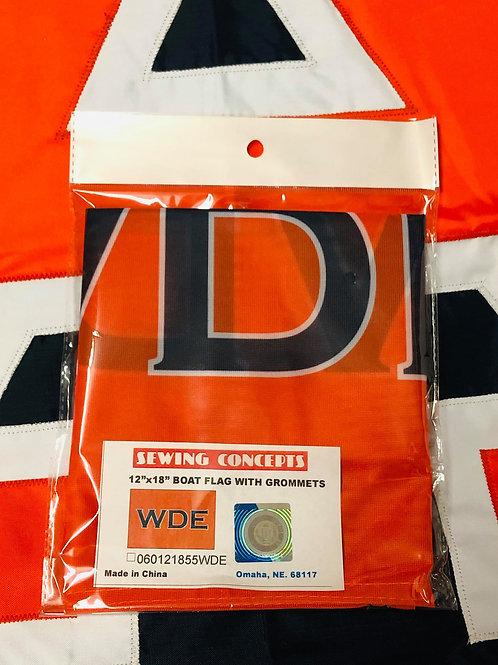 "12"" x 18"" WDE Boat Flag"