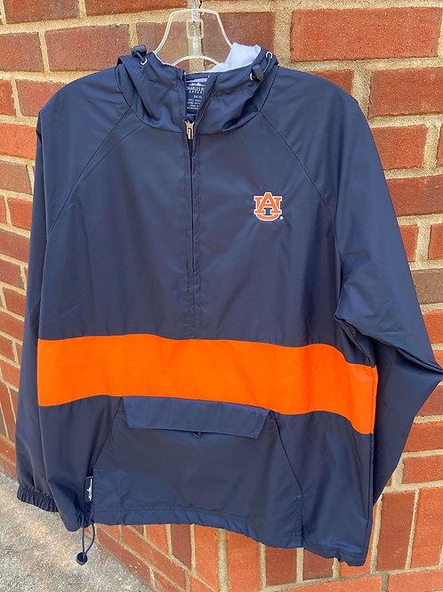 AU Navy & Orange Charles River Jacket