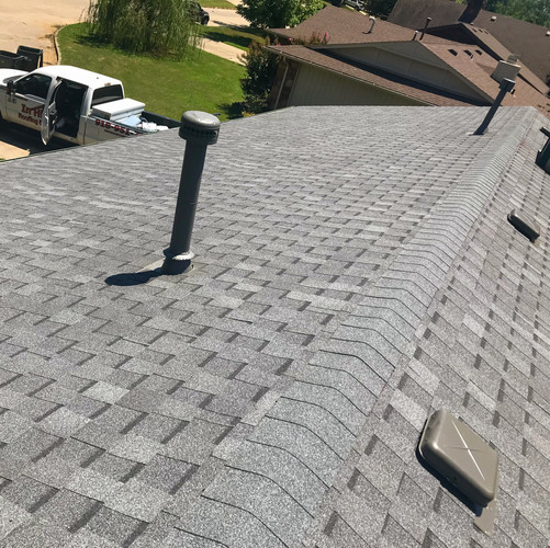 New roof construction by In His Name Roofing in Broken Arrow, OK