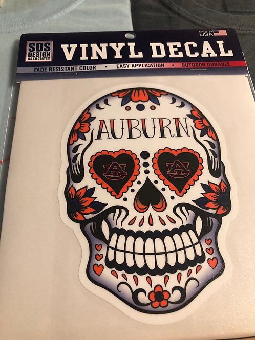 """6"""" Auburn Sugar Skull Decal"""