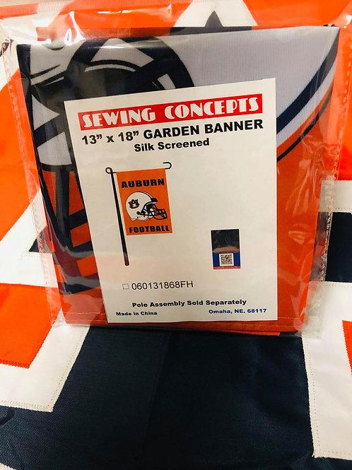 "13"" x 18"" Auburn Garden Banner Silk Screened"