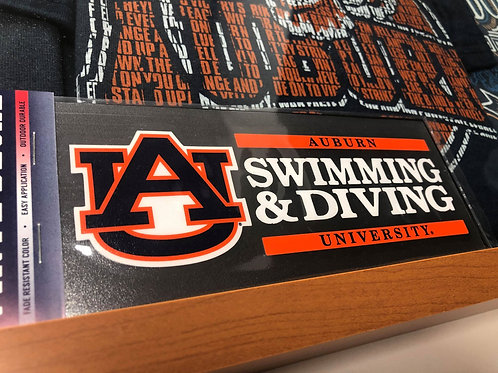 AU Swimming & Diving Decal