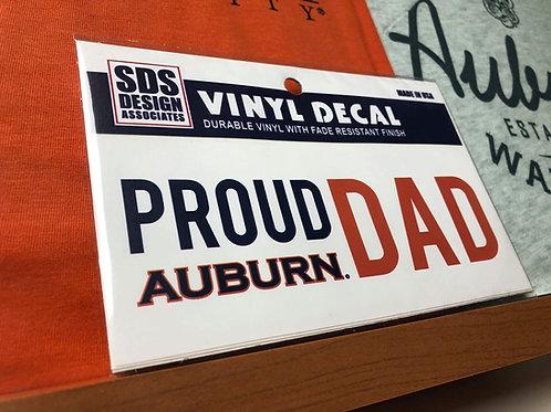 Proud Auburn Dad Decal