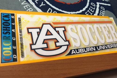 Auburn University Soccer Decal