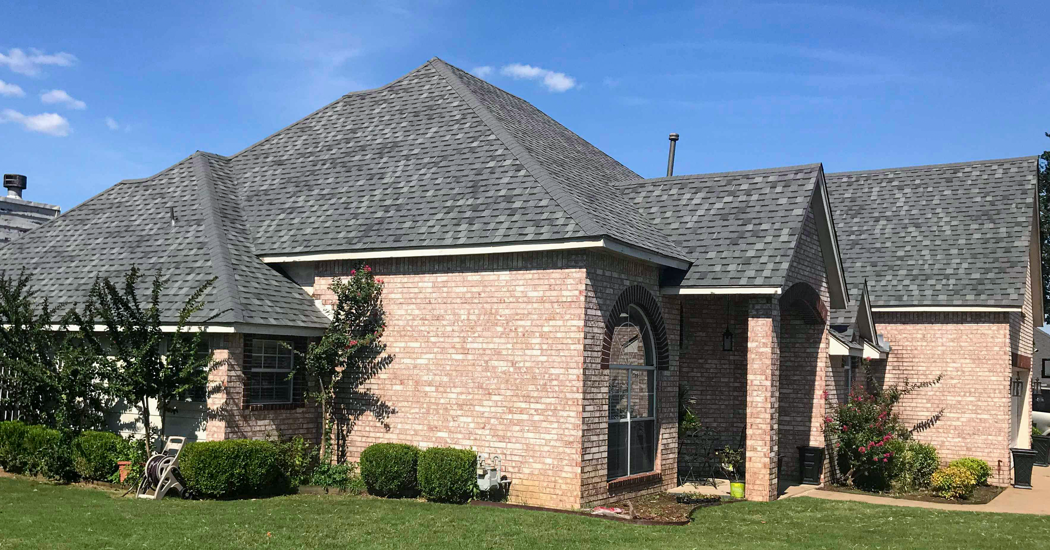Beautiful home worked on by certified contractor In His Name Roofing and Construction