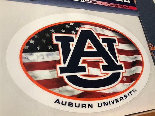 """6"""" AU American Flag Decal"""