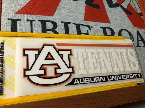 Auburn University Tennis with AU Decal