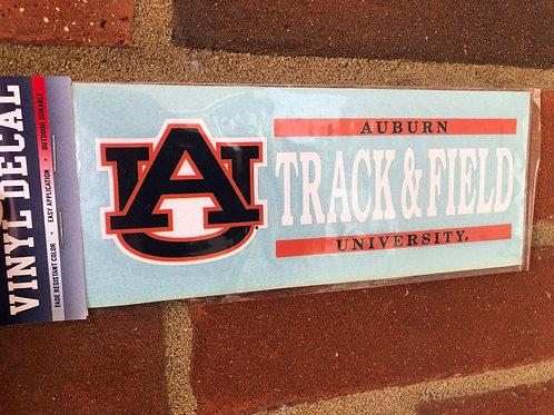 AU Track & Field Decal