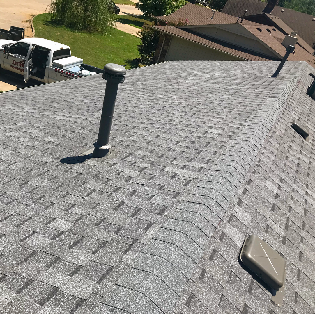 Roofing contractor In His Name Roofing and Construction completed another job